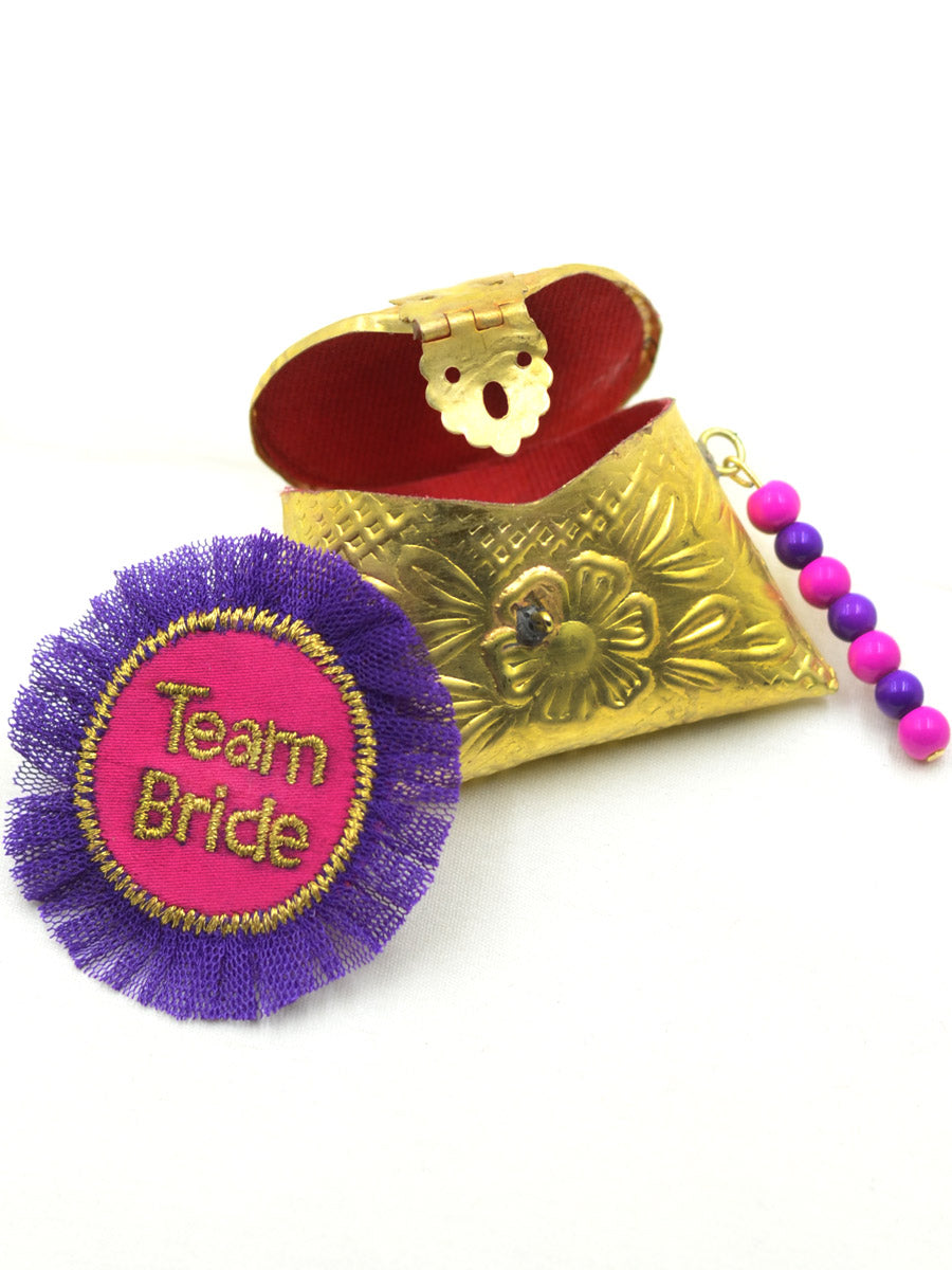 Team Bride Tiny Metal Clutch