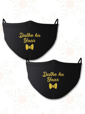 Dulhe ka Yaar (Set of 2) Wedding Face Mask