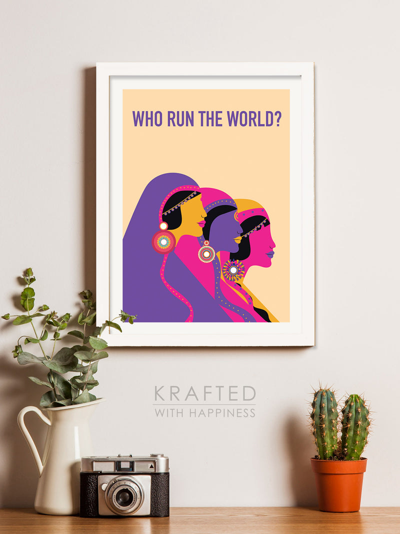 Who Run The World Wall Art
