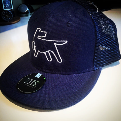 Mesh Back Baseball Cap - Navy Blue