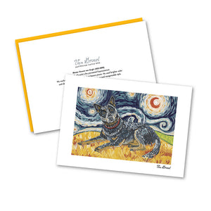 Australian Cattle Dog Starry Night Notecard Set