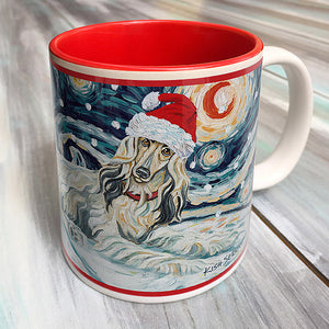 Afghan Cream Holiday Starry Night Mug