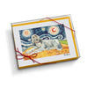 Afghan Cream Starry Night Notecard Set