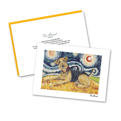 Airedale Starry Night Notecard Set