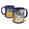 Akita Starry Night Mug