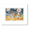 Akita Starry Night Matted Print