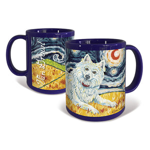 American Eskimo Starry Night Mug