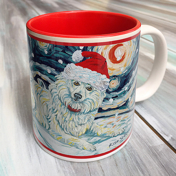 American Eskimo Holiday Starry Night Mug
