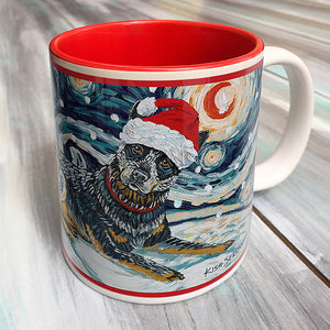 Australian Cattle Dog Holiday Starry Night Mug