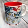 Australian Shepherd Holiday Starry Night Mug