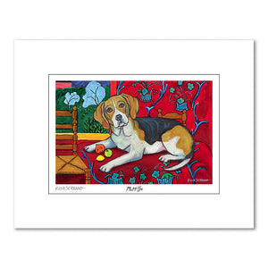 Beagle Muttisse Matted Print