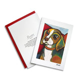 Beagle Pawcasso Notecard Set