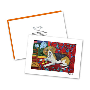 Beagle Muttisse Notecard Set