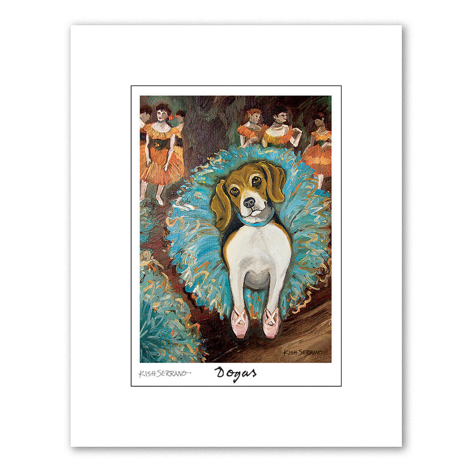 Beagle Dogas Matted Print