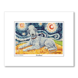 Bedlington Terrier Starry Night Matted Print