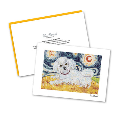 Bichon Frise Starry Night Notecard Set