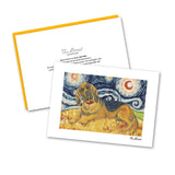 Bloodhound Starry Night Notecard Set