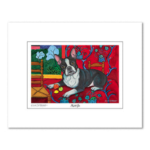Boston Terrier Muttisse Matted Print