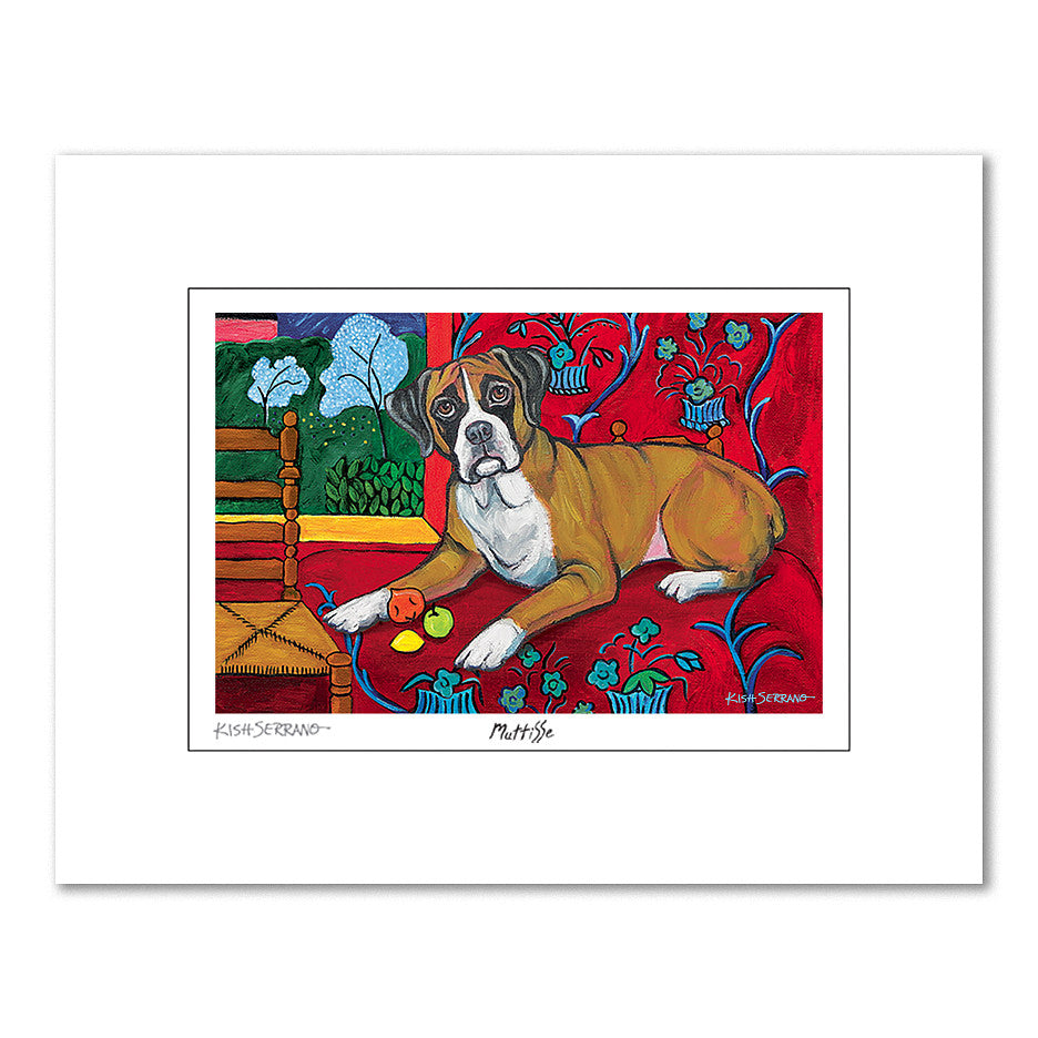 Boxer Muttisse Matted Print