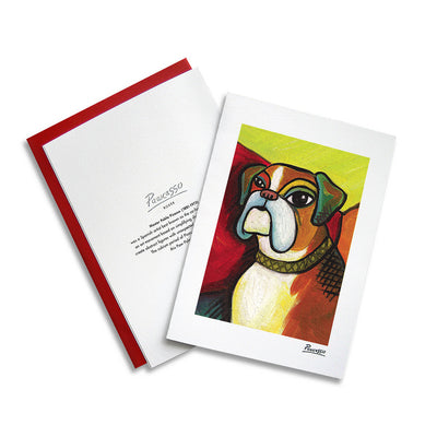Boxer Pawcasso Notecard Set