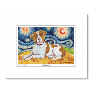 Brittany Starry Night Matted Print