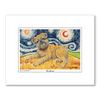 Brussels Griffon Starry Night Matted Print