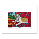Bulldog Muttisse Matted Print