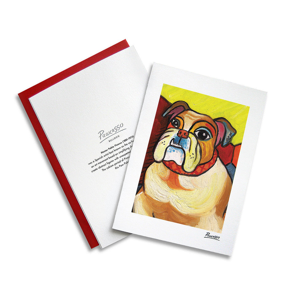 Bulldog Pawcasso Notecard Set