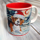 Beagle Holiday Starry Night Mug