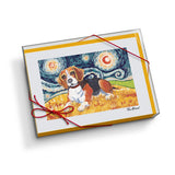 Beagle Starry Night Notecard Set