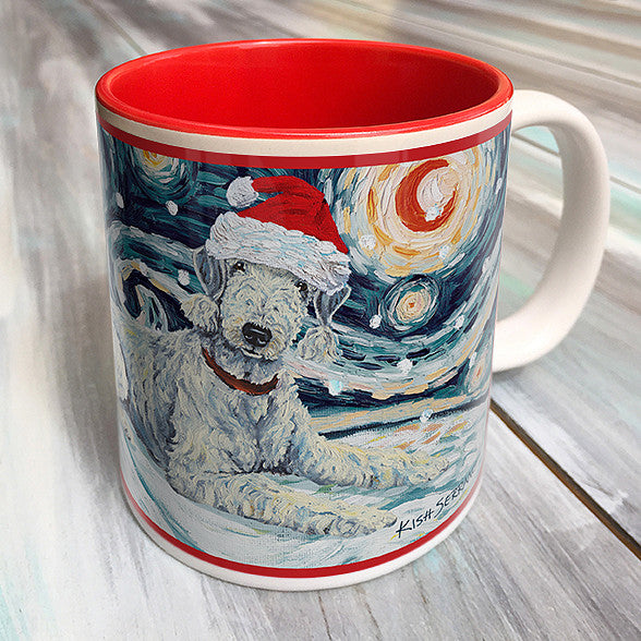 Bedlington Terrier Holiday Starry Night Mug