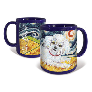 Bichon Frise Starry Night Mug