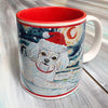 Bichon Frise Holiday Starry Night Mug
