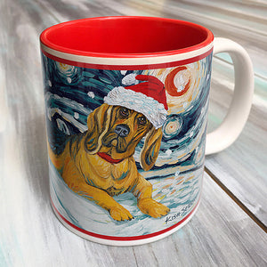 Bloodhound Holiday Starry Night Mug