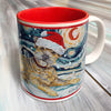 Border Terrier Holiday Starry Night Mug