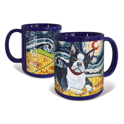 Boston Terrier Starry Night Mug
