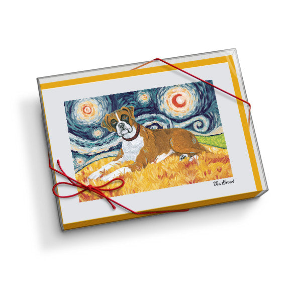 Boxer Notecard Set
