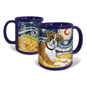 Boxer Starry Night Mug