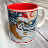 Boxer Holiday Starry Night Mug