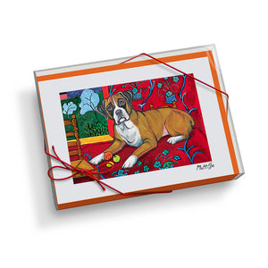 Boxer Muttisse Notecard Set