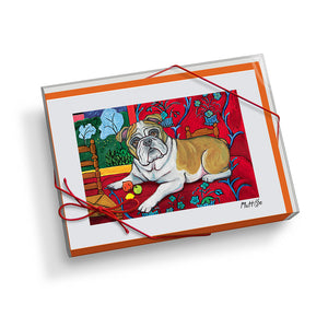 Bulldog Muttisse Notecard Set