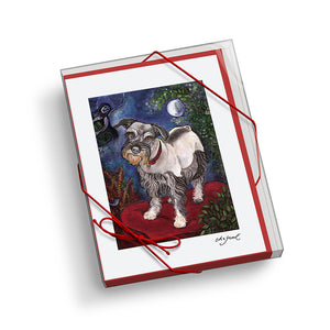 Schnauzer Chagrowl Notecard Set