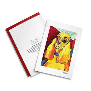 Cocker Spaniel Pawcasso Notecard Set
