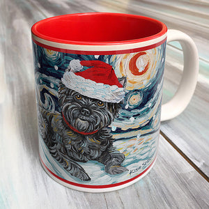 Cairn Terrier Dark Holiday Starry Night Mug