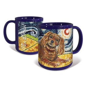 Cavalier King Charles Ruby Starry Night Mug