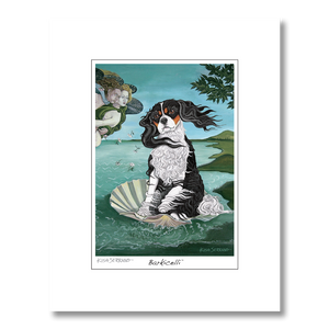 Cavalier King Charles Barkicelli Matted Print