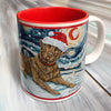 Chesapeake Bay Retriever Holiday Starry Night Mug