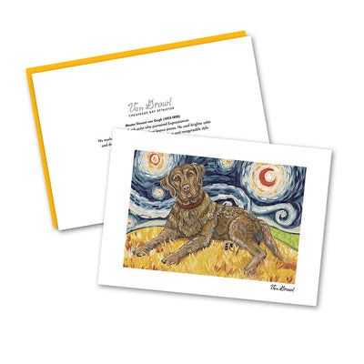 Chesapeake Bay Retriever Starry Night Notecard Set