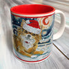 Chihuahua Longhair Holiday Starry Night Mug