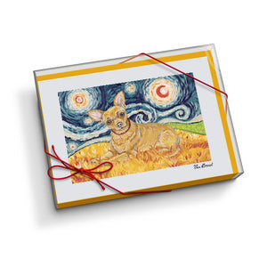 Chihuahua Starry Night Notecard Set